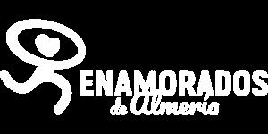 Logo Horizontal de Enamorados de Almería en blanco 2